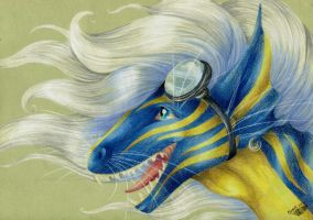 Blue Hasia Portrait by Natoli