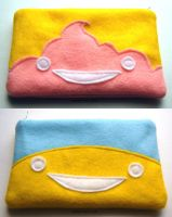 Sun + Parfait zipper pouches by coconut-lane