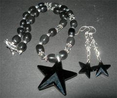 Black Star Necklace by fieryfae