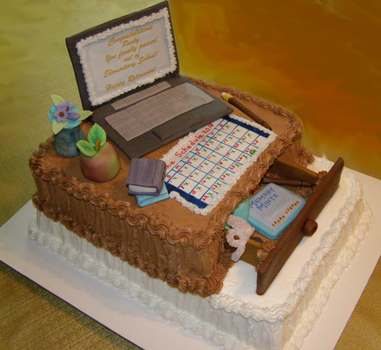 Retirement Cake for Teacher by Mar-a-thon