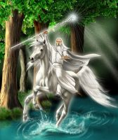 Gandalf and Shadowfax by FantasyAxiA