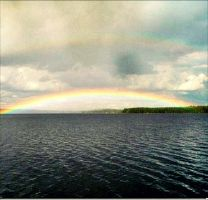 The Rainbow Comes In Colours And Bringing Sunshine by eskile