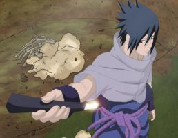 Sasuke Enters the Battlefield by bangalybashir