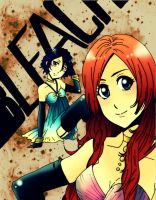 Bleach: Orihime and Rukia by UltraPunkNERD