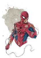 Wounded Spider-Man by LudoDRodriguez