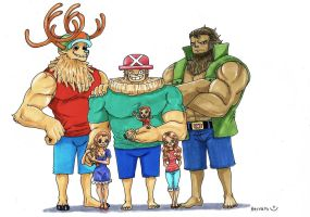 Dr.Chopper and his family by heivais