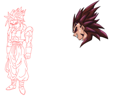 WIP: Aladjinn Vegeta and SSJ Truhan by Nassif9000