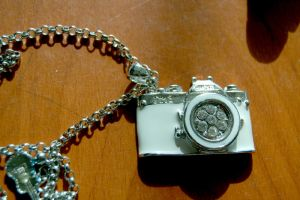 White Camera Pendant by paperplane-products