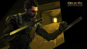 Adam Jensen - Wallpaper by fivetinsoldiers