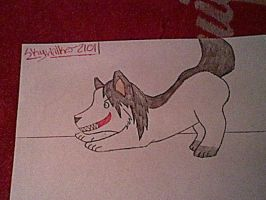 On the Hunt (Jeff the Killer Wolf) by Skywalker2101