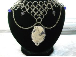 Caged Cameo Chainmail Choker by HoneyCatJewelry