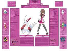 Pokemon Trainer Sheet by xZusamx