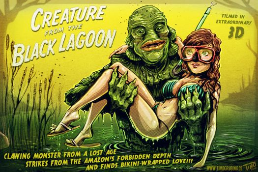 Creature from the Black Lagoon by TmoeGee
