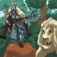 High Elf White Lion by Grey-Coven