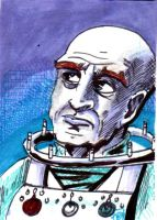Ottos Mr Freeze  Sketch Card no1 by Barnlord