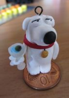 Brian from Family Guy Charm by damnheliotrope