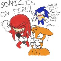 Sonic is on fire! by aggieandco