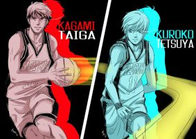 Kurobasu : Red and Blue by Bayou-Kun