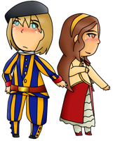 [APH AT] Vatican City and Switzerland by poi-rozen