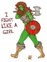 I Fight Like A Girl by Demorta