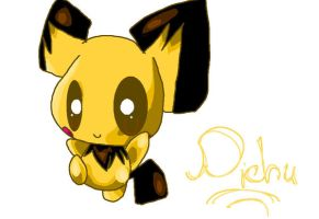Pichu in MS Paint by Chaomaster1