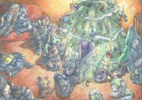 The Christmas Eve in the digital World by Myaco