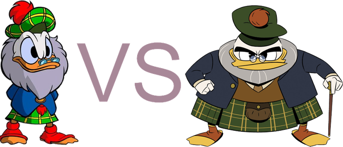 Graphic comparison: Flintheart Glomgold by Nunzio92