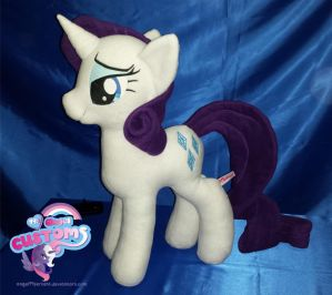 Rarity plushie by angel99percent