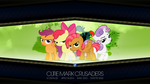Cutie Mark Crusaders + Babs Seed (Wallpaper) by impala99