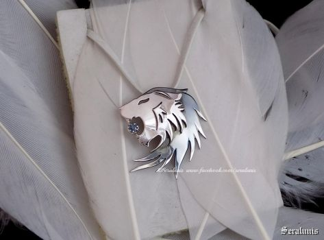 'Noble blood', handmade sterling silver pendant by seralune