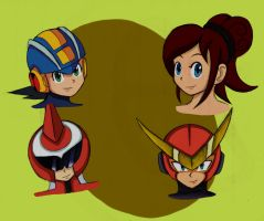 MagaMan Battle Network: Faces by RoseBereArtist