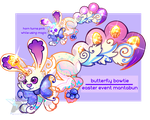 Butterfly Bowtie - Event Mantabun adopt [CLOSED] by UnicornTech