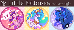 My Little Buttons - Princesses are Magic by Kitsurie