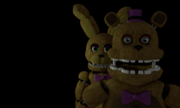 Fred bear and Spring Bonnie by Michael-V