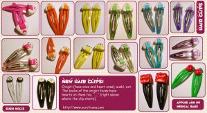 Cutie Hair Clips by tedsie