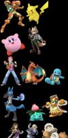 Some of the Characters in TheSoulBattle by Demondreans667