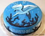 Dolphin cake by ginas-cakes