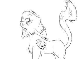 First cat lineart by glowy-colors-lova-8D