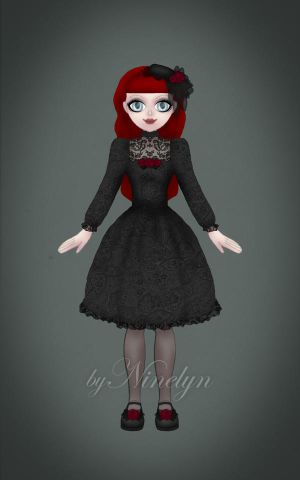 Cassandra - Gothic Lolita Outfit by Ninelyn