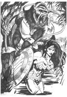 Wonder Woman versus Grodd 1 by BrianAW