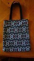black white red tote by pnuewave