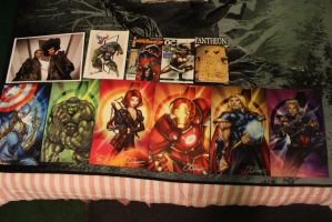 my stuff at Amazing Comic Con 2 by ICK369
