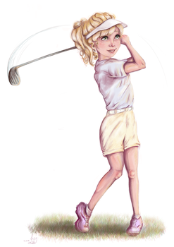 GolfGirlypng by JazyLouArt