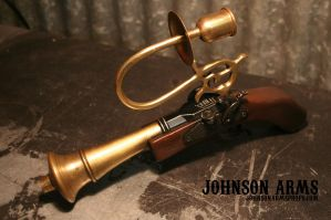 Ornate Steampunk Pistol by JohnsonArms