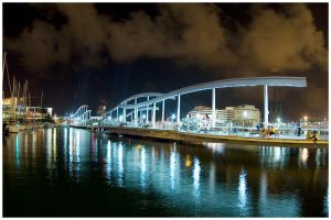 barcelona by night by kaziksca