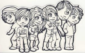 Chibi Percy Jackson Characters by miriamartist