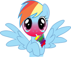 Rainbowdash Smoothie Vector by HeavyEcho
