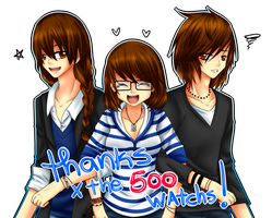Thanks for the 500 watchs by AderiAsha