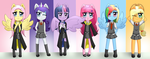 Mane Six- Harry Potter Version by Naruto-Cupcakes