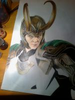 Just the making of another Loki fanart by RinoaKH